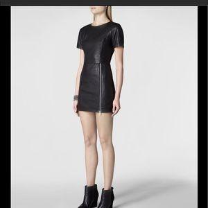 All Saints Feliz Dress Black Leather